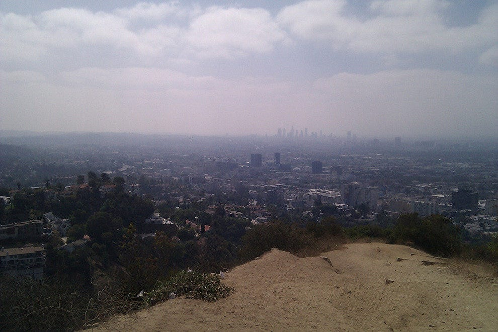 View from Runyon Canyon Park in Los Angeles