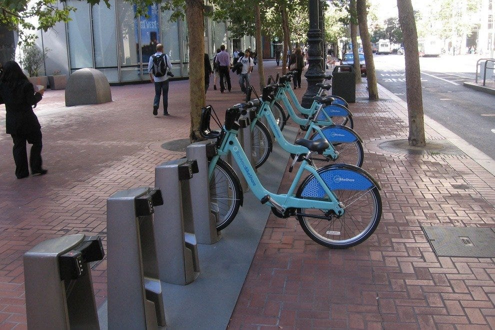 Bay Area Bike Share bicycles