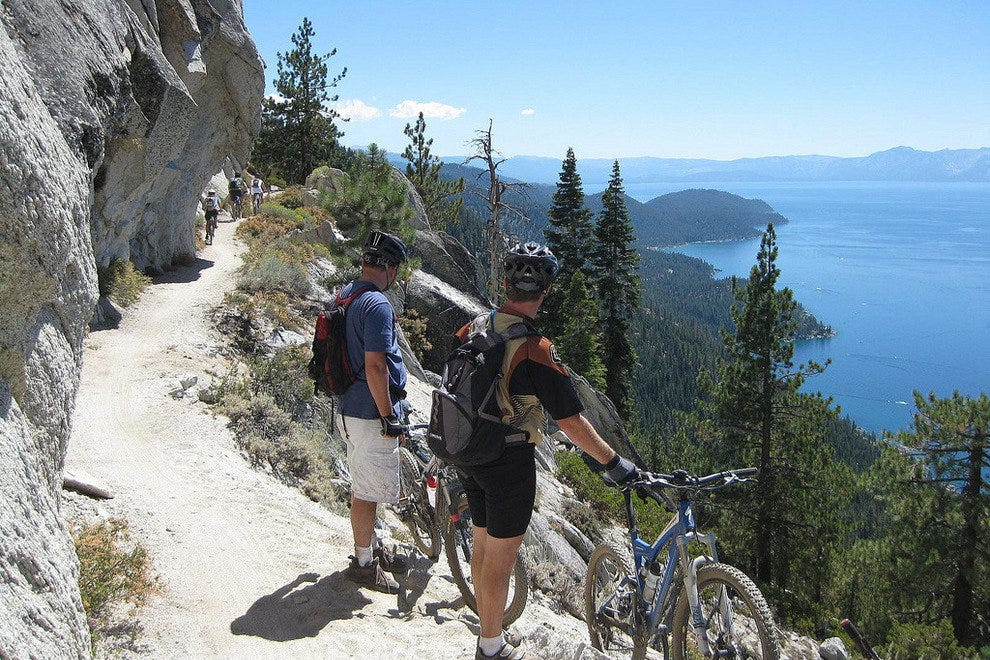 The Flume Trail overlooks the North Shore of Lake Tahoe