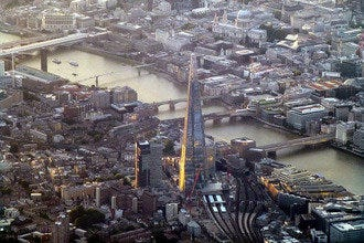 View London from Above at The Shard Skyscraper