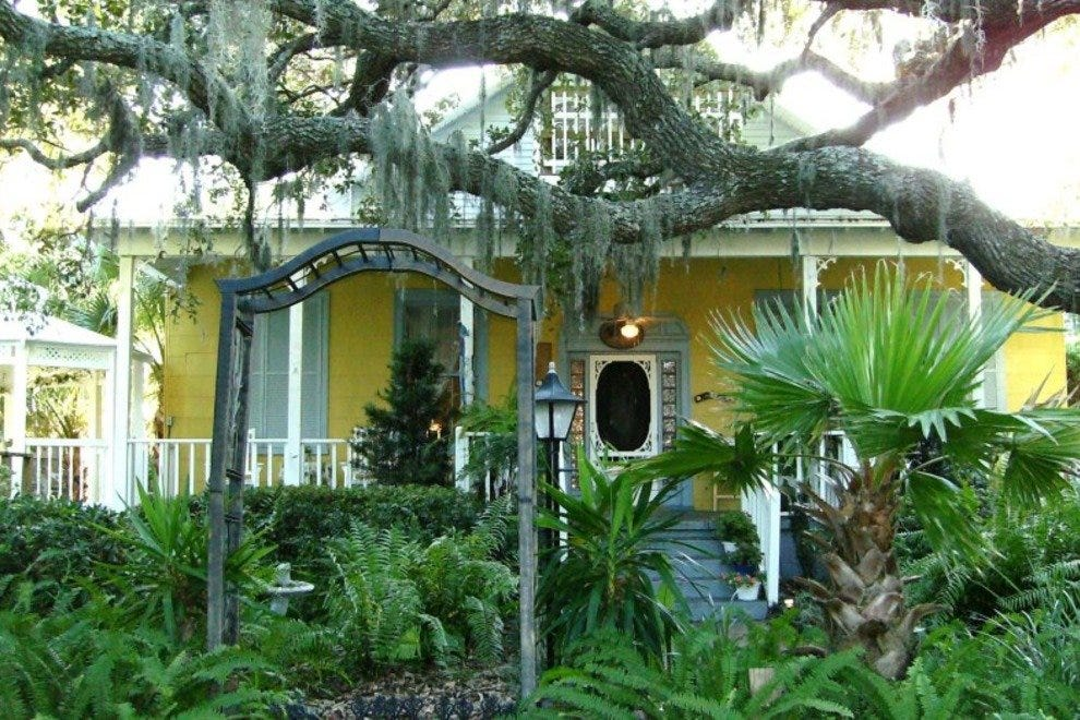Tybee Island Inn's grounds include lush landscaping, a gazebo and a garden