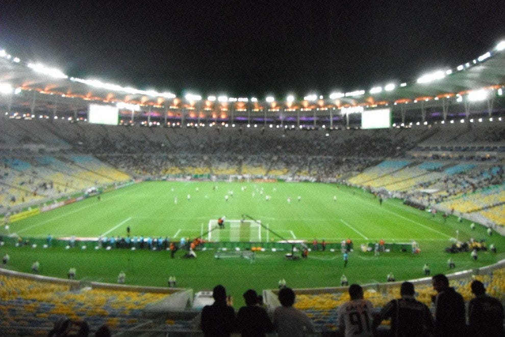 The legendary Maracana was once the largest soccer stadium in the world