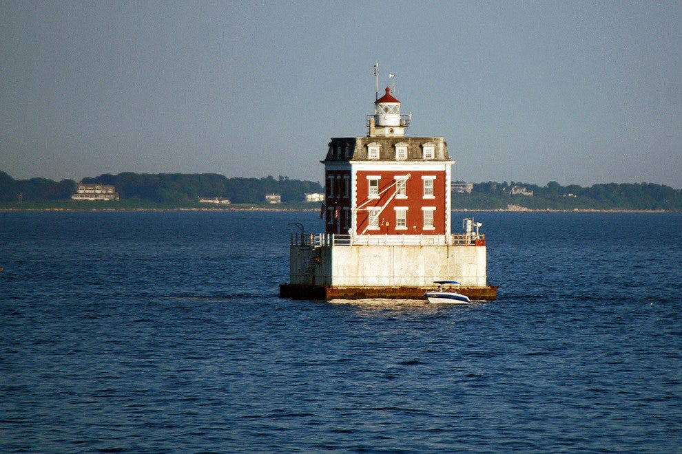 The Haunted New London Ledge Light in Connecticut
