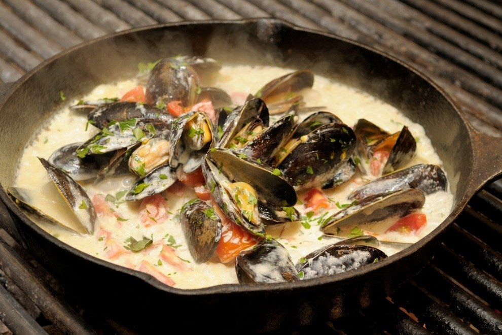 Mussels in marscapone cream sauce