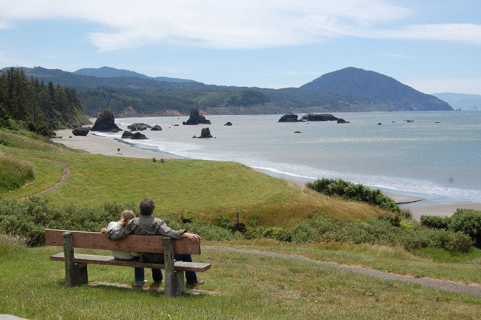 Battle Rock City Park on the Pacific Coast Scenic Byway