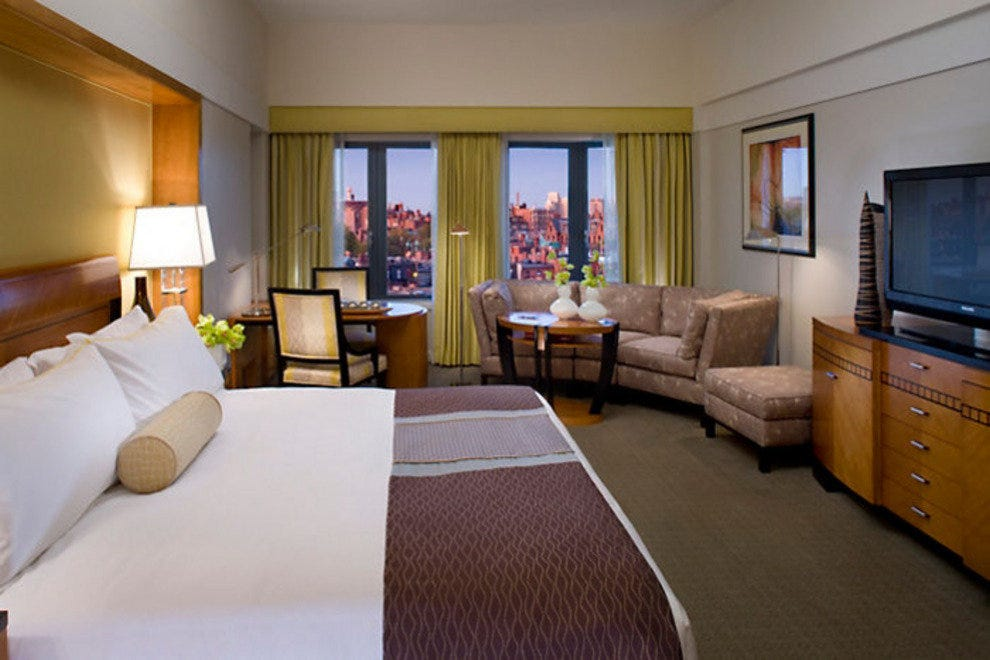 A deluxe room at the Mandarin Oriental Boston