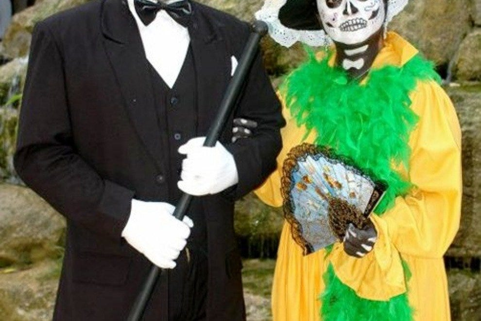 La Catrina (right) is the image of death in Mexico
