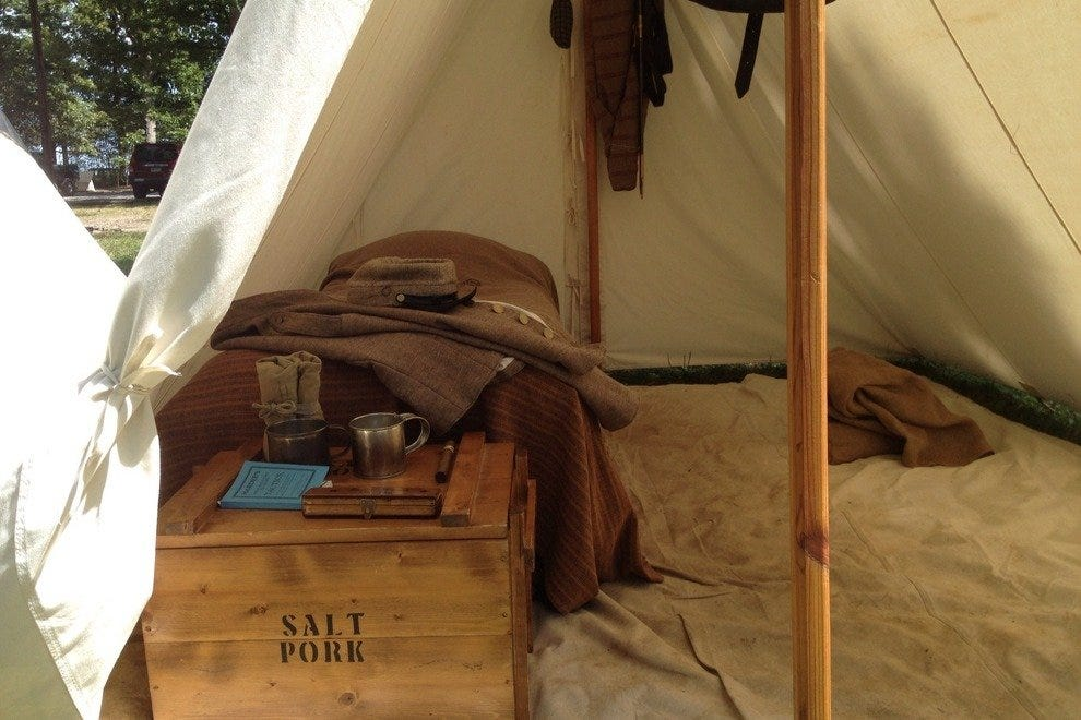 Inside the tent of a reenactor