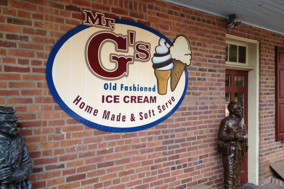 Mr. G's ice cream shop