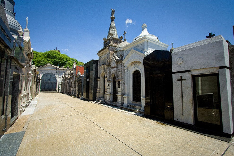 Evita Peron is buried within the La Recoleta Cemetery.