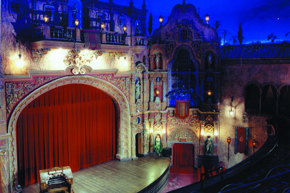 The magic begins as you step into the elaborately decorated theater, complete with starry sky