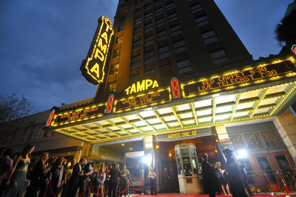 Built in 1926, the Tampa Theatre is a vibrant part of downtown nightlife