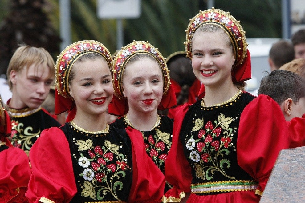 Girls in traditional costume