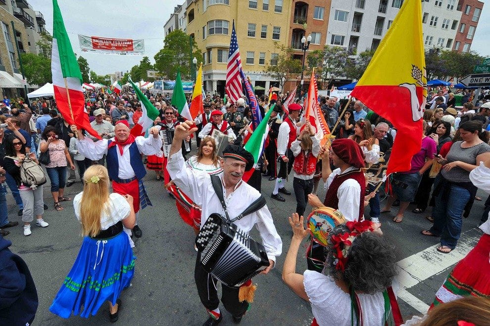Each May, the largest Sicilian Festival in the nation is held in San Diego's Little Italy.