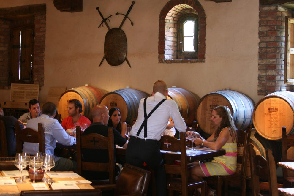 The Il Passito room hosts wine and food pairings in a Medievel ambiance.