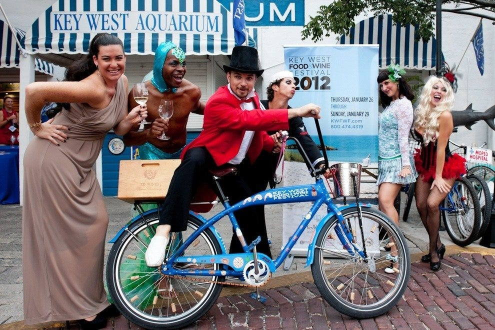 The Key West Food & Wine Festival features a series of fun and funky events.