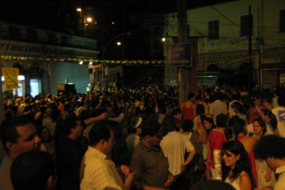 Largo do Guimaraes is the setting for many a Santa Teresa street party.