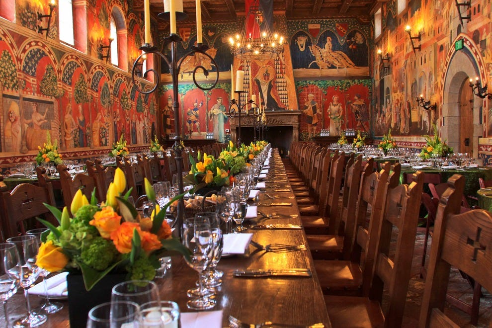 The incredible Great Hall at the Castello is a perfect venue for special wine-tasting events.