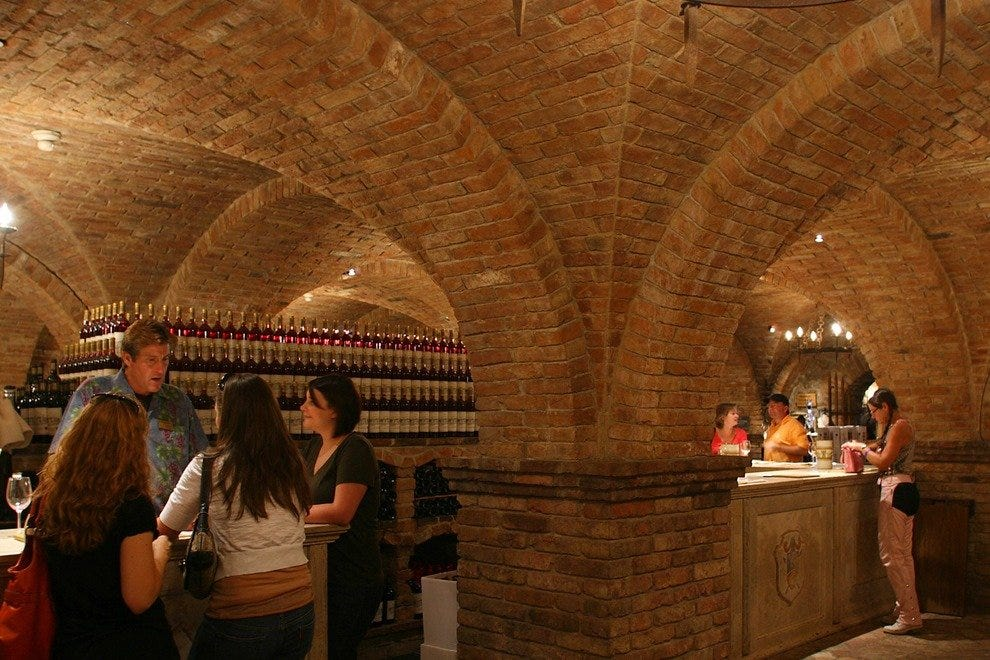 Let it Pour--Tasting is Even More Fun in a Medieval Cellar