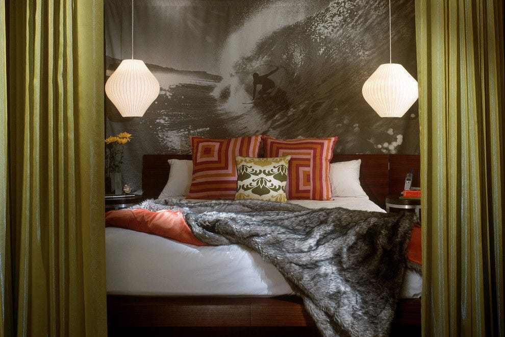 Classy rooms are just part of the charm at the Hotel Helix in Washington, DC