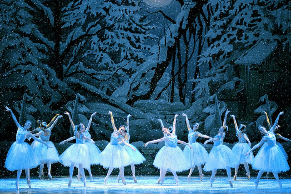 The famous Fir Forest snow scene from the Nutcracker