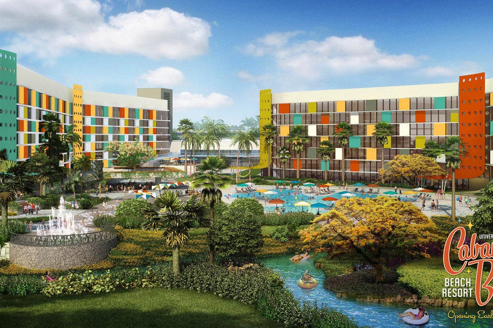 Retro-Activity: Renderings depict the splashy style of the resort's South Courtyard