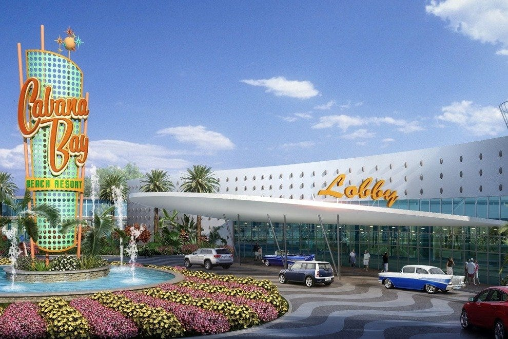 The Cabana Bay vibe will grab guests with subtle kitsch right up front