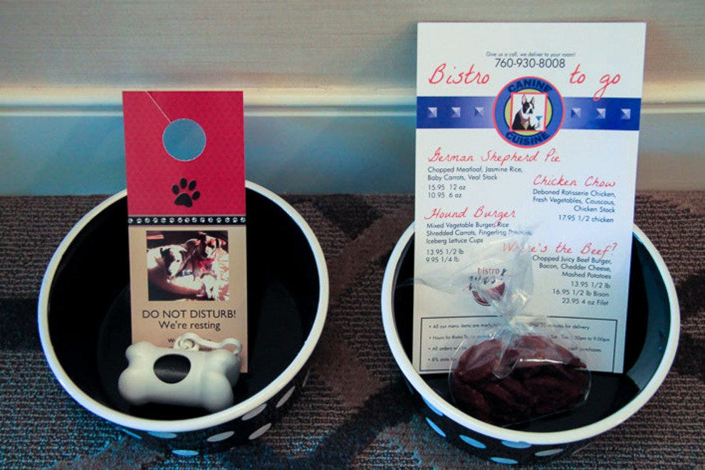 Doggie welcome amenities at West Inn & Suites