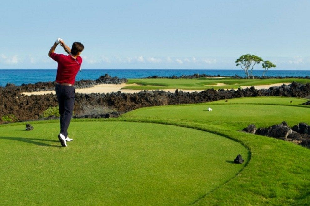 View from the 17th hole at Hualalai Golf Course