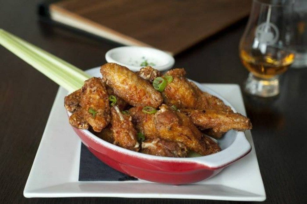 Belly Fire wings at Fountainhead Chicago