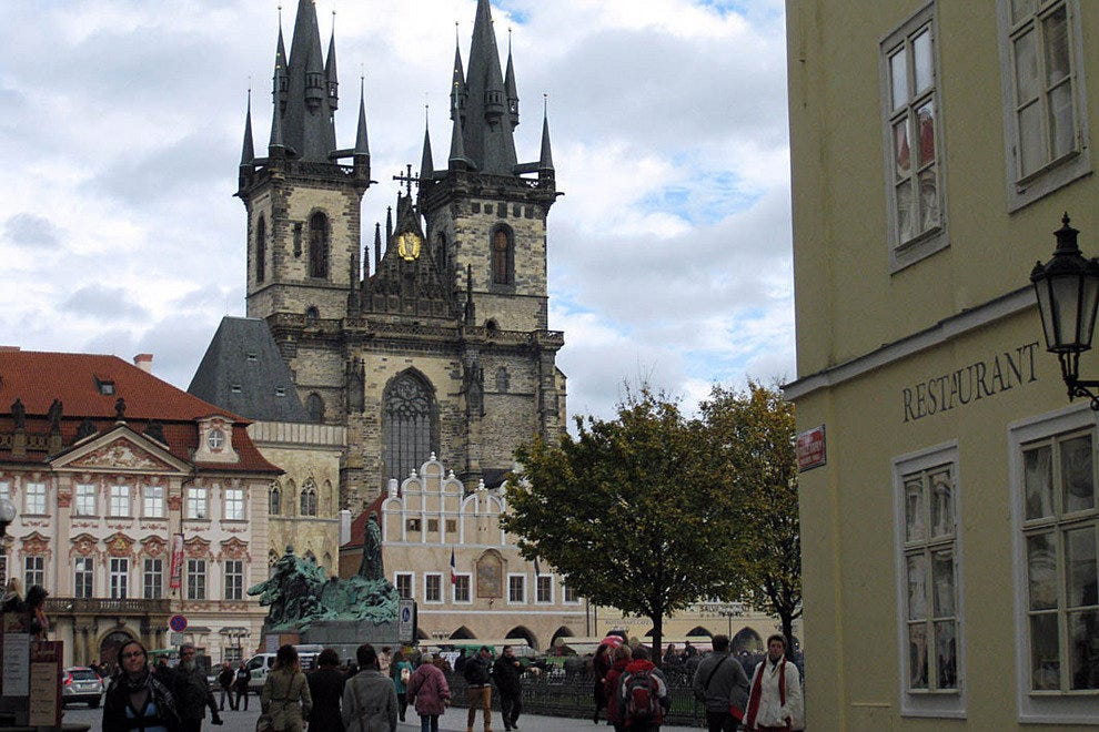 Old Town Square, one of many places you'll see on your walking tour of Prague