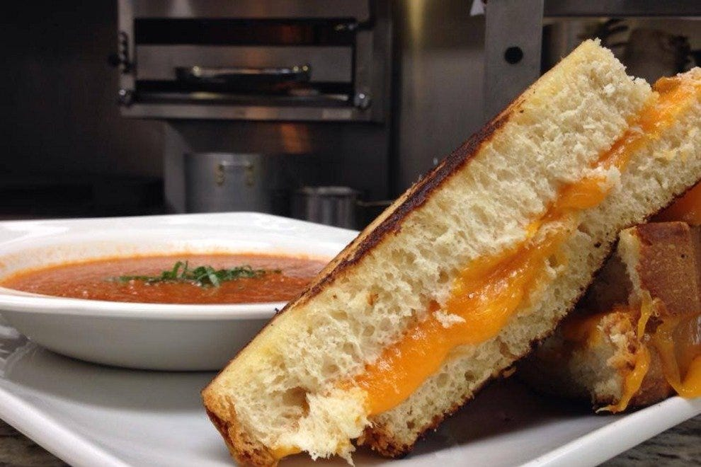 Southward's grilled cheese and tomato soup, the ultimate comfort food lunch pairing