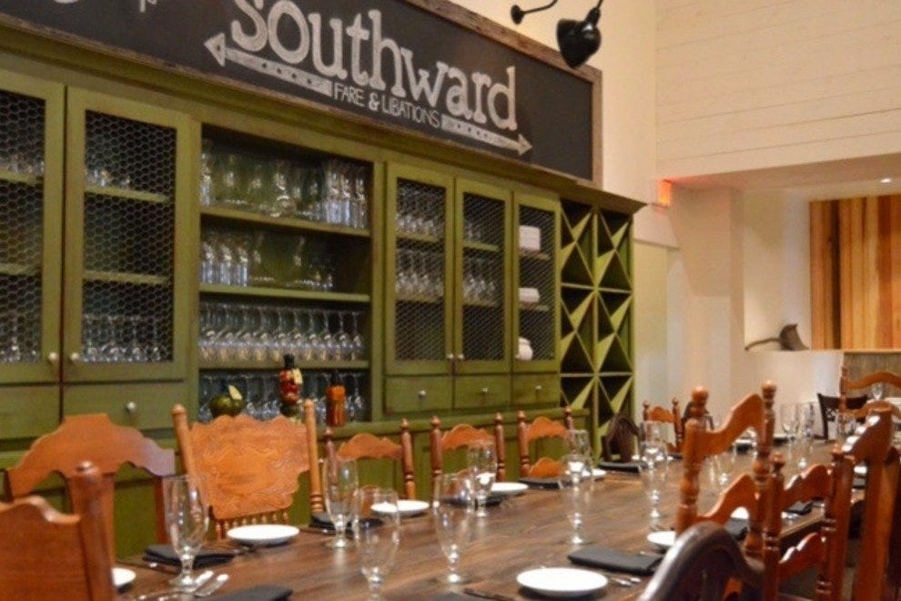 The cavernous space at Southward feels homey and comfortable