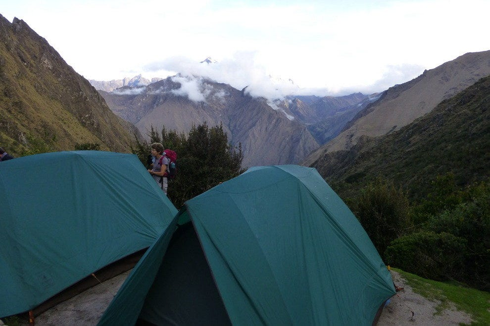 Camping on the Inca Trail.