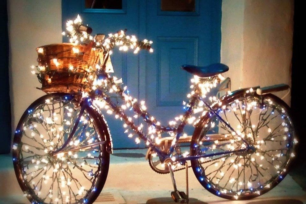 Twinkle, twinkle: Each year, participants deck their bikes as extravagantly as their halls
