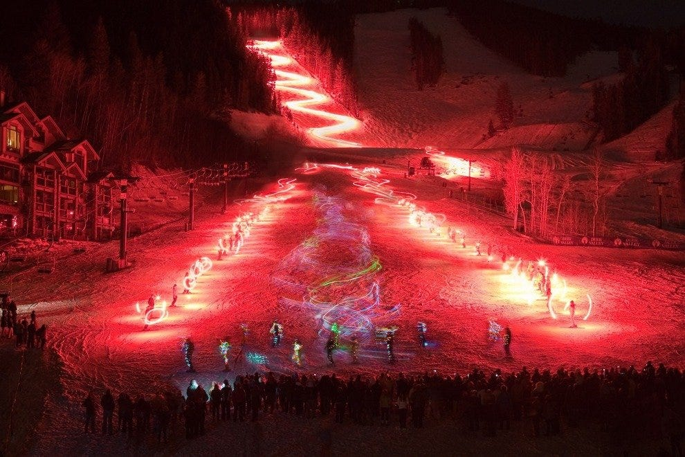 Amazing display on the mountain