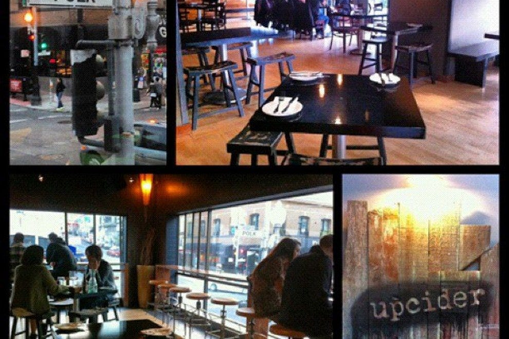 A collage of scenes at Upcider Bar