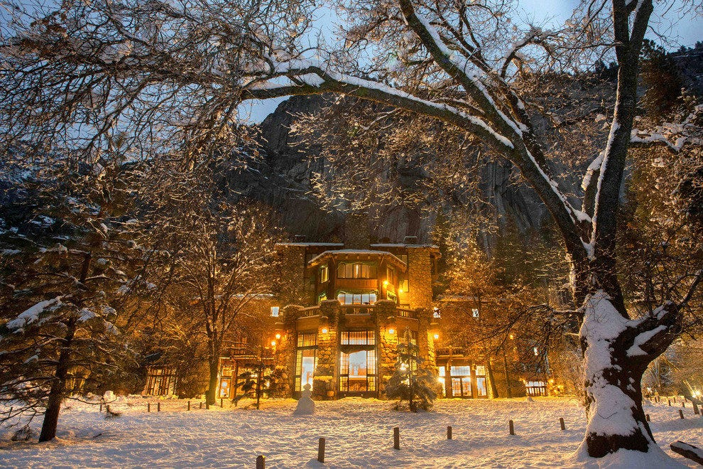 The Ahwahnee Hotel Shimmers in Winter Splendor