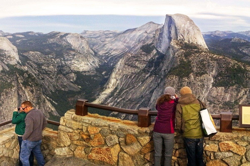 Yosemite's Half Dome, A Sheer Cliff of Granite