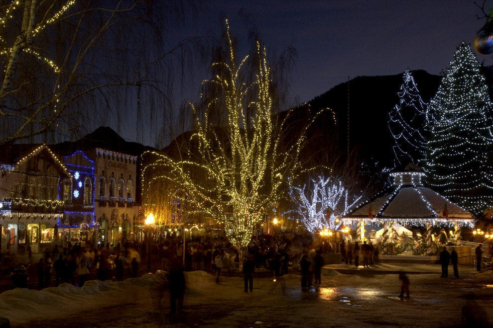Downtown Leavenworth at Christmas