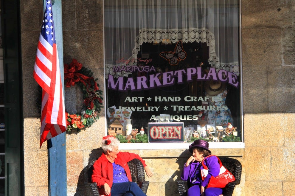 Shopping is a favorite activity when visiting Mariposa.