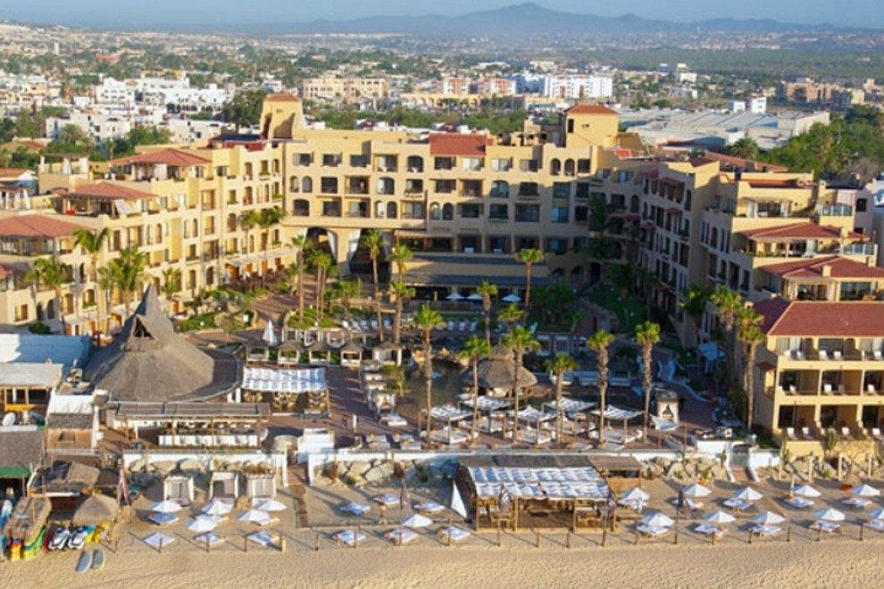 Melia's ME Cabo Resort boasts a scenic seaside location on Medano Beach in Cabo San Lucas