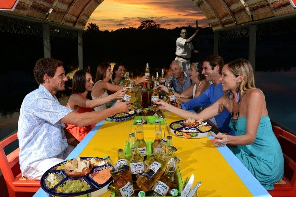 An evening at Xoximilco is an adventure in Mexican culture