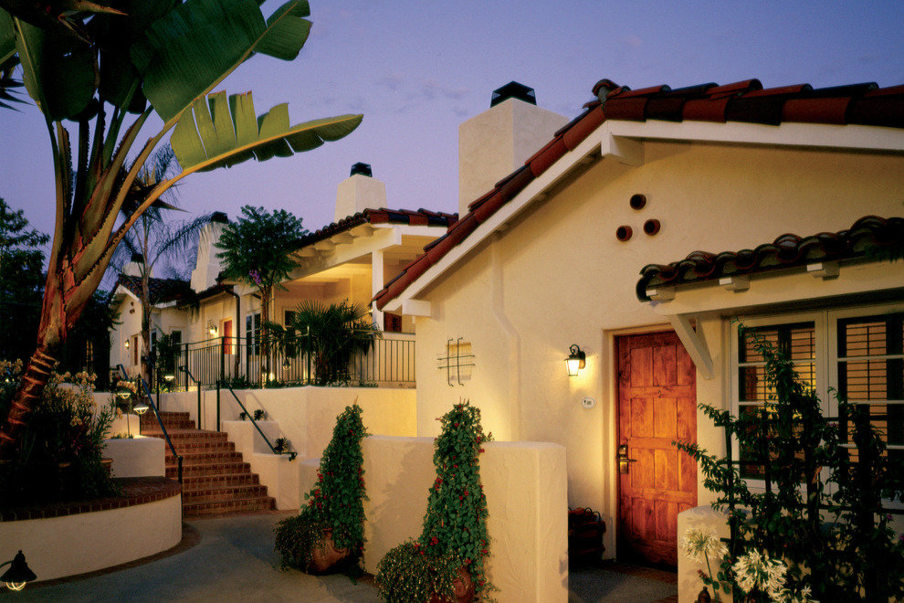 Exterior shot of one of the hotel's cottages
