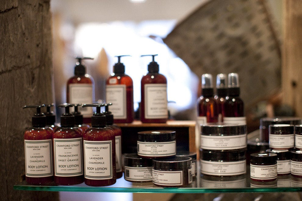 The Crawford Street all-natural skincare line