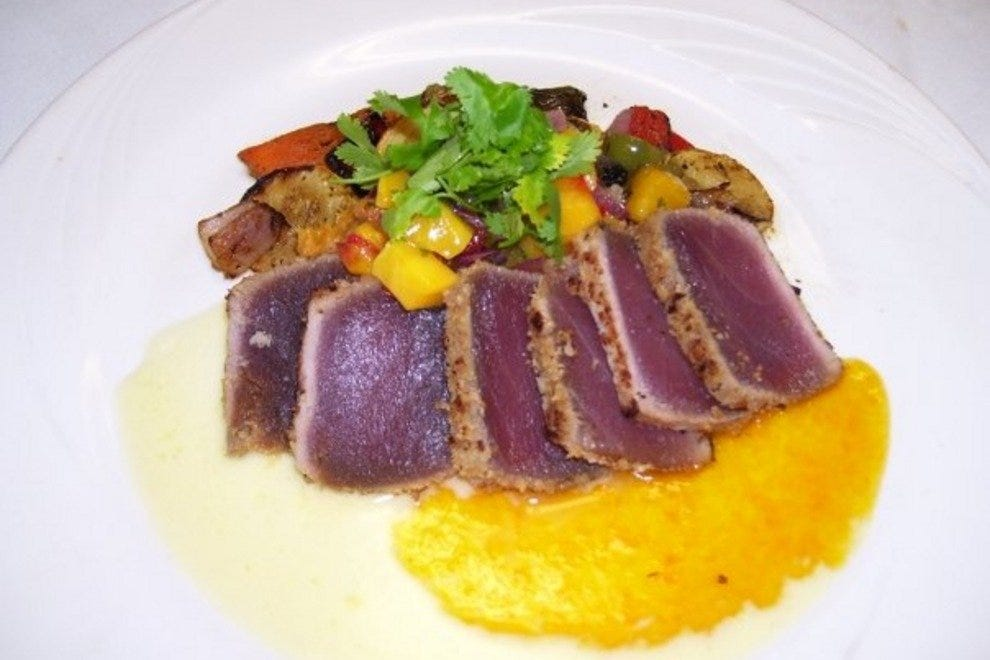 Macadamia-encrusted tuna is one of the restaurant's most popular recurring specials
