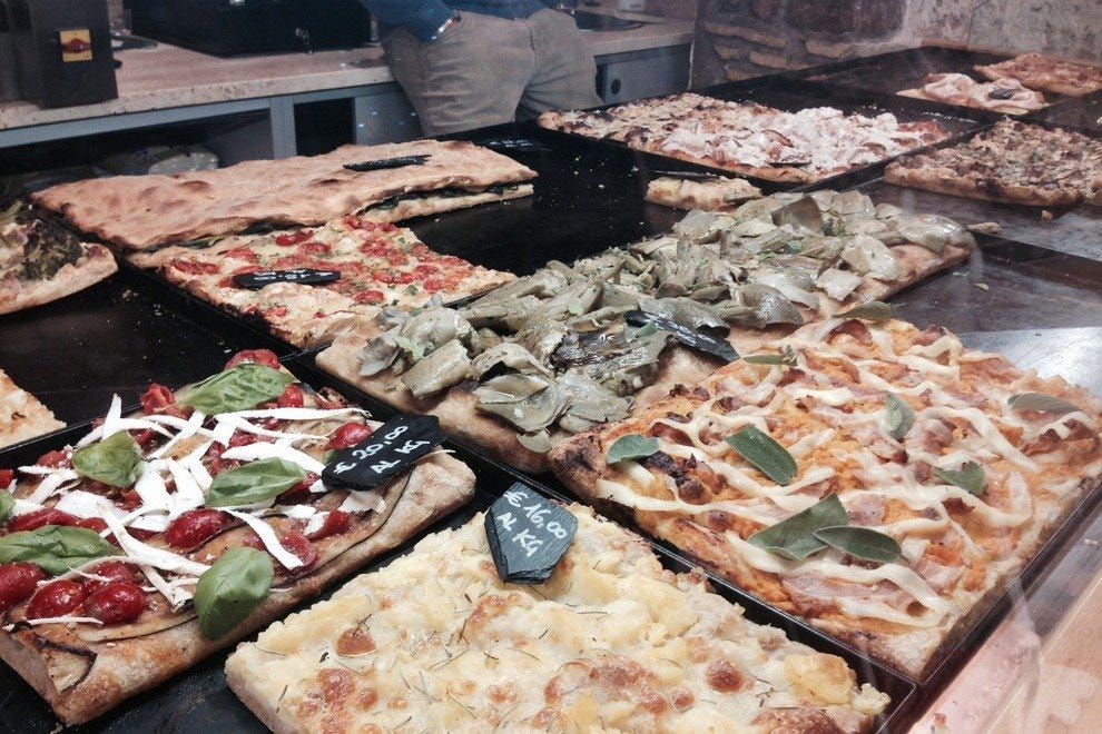 Bonci's pizza is not to be missed in Rome.