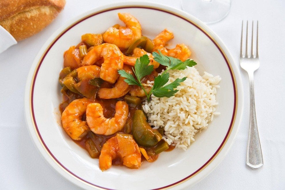 Refined Creole shrimp at Arnaud's