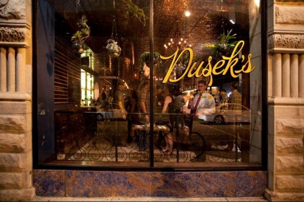 A view looking in at Dusek's