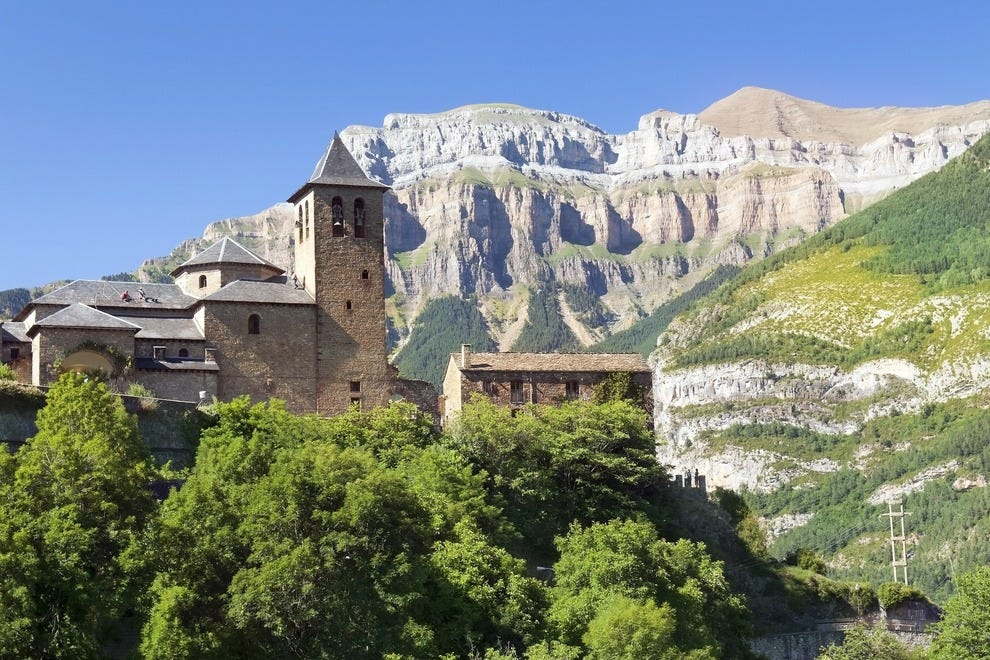 Villiage of Torla, Spain in the Pyrenees